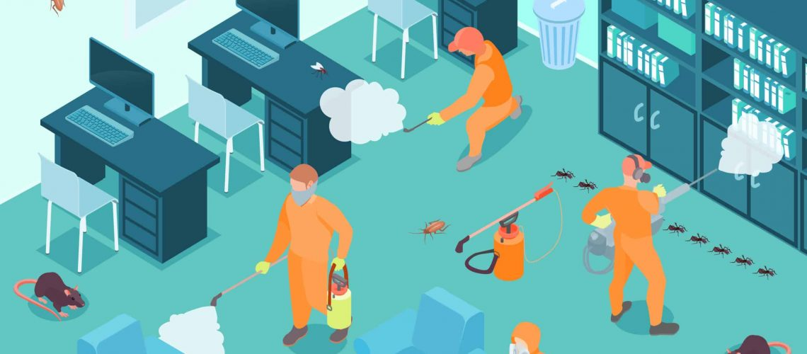 Disinfection Isometric Illustration